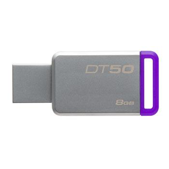 USB Флеш 8GB 3.0 Kingston DT50/8GB металл