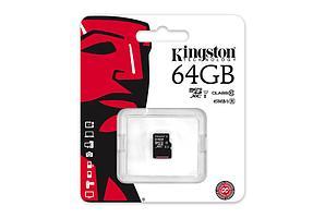 Карта памяти MicroSD 64GB Class 10 U1 Kingston SDC10G2/64GBSP