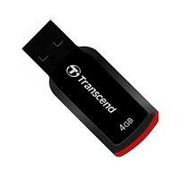 USB Флеш 4GB 2.0 Transcend TS4GJF360 черный-красный