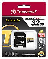 Карта памяти MicroSD 32GB Class 10 U3 Transcend TS32GUSDU3M