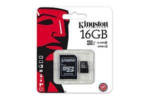 Карта памяти MicroSD 16GB Class 10 U1 Kingston SDC10G2/16GB