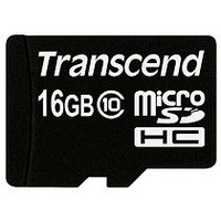 Карта памяти MicroSD 16GB Class 10 Transcend TS16GUSDC10
