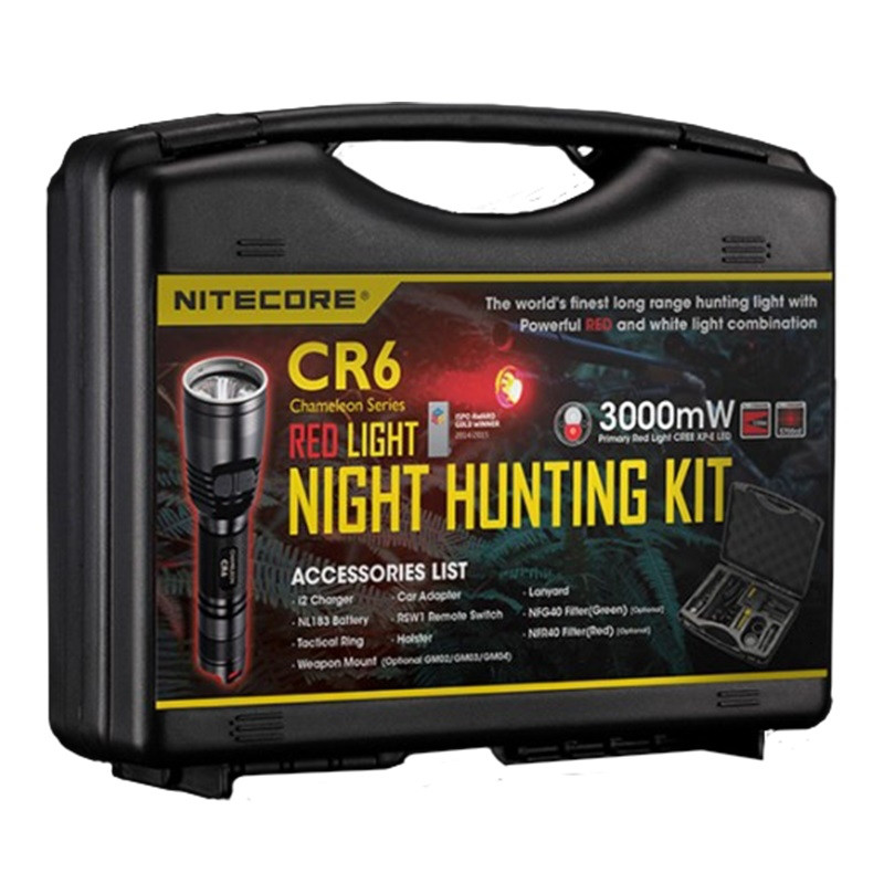 Фонарь NITECORE CR6 HUNTING KIT RED