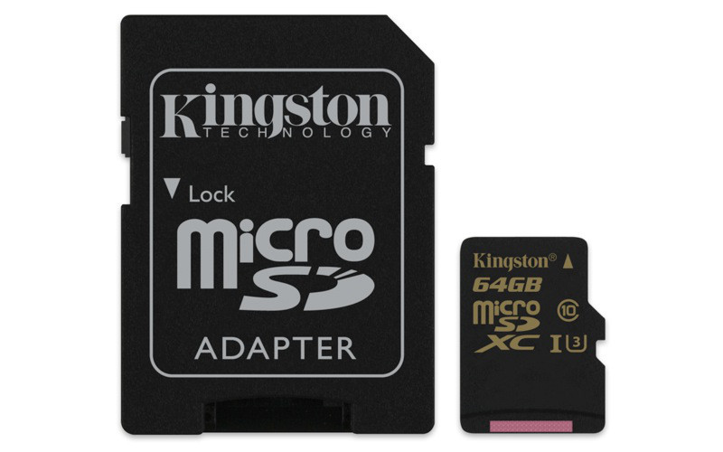 Карта памяти MicroSD 64GB Class 10 U3 Kingston SDCG/64GB