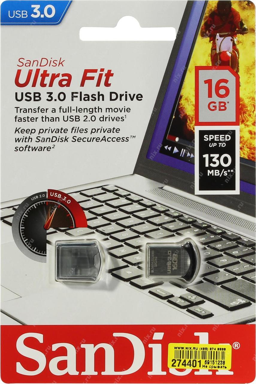 USB Флеш 16GB 3.0 SanDisk SDCZ43-016G-GAM46 металл