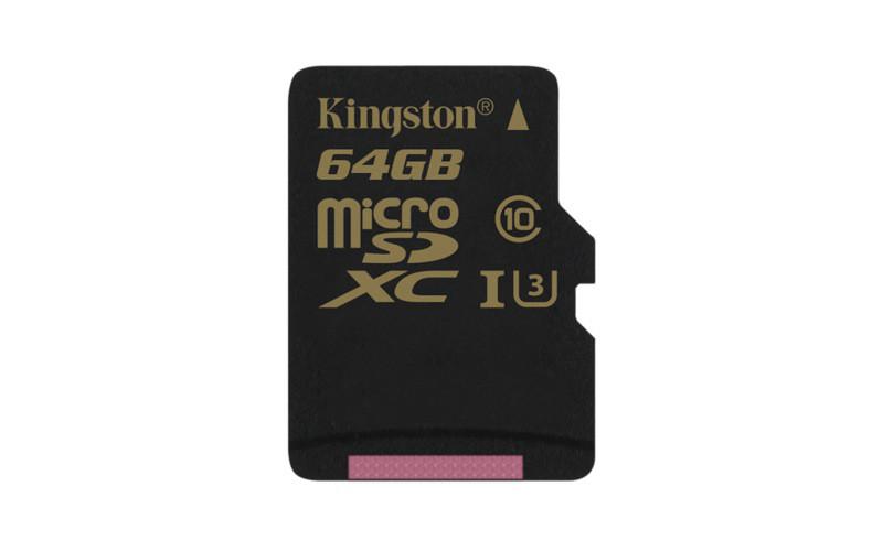 Карта памяти MicroSD 64GB Class 10 U3 Kingston SDCG/64GBSP