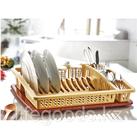 """Сушилка для посуды """"Степ"""" с поддоном, DDStyle 07105, фото 2"""