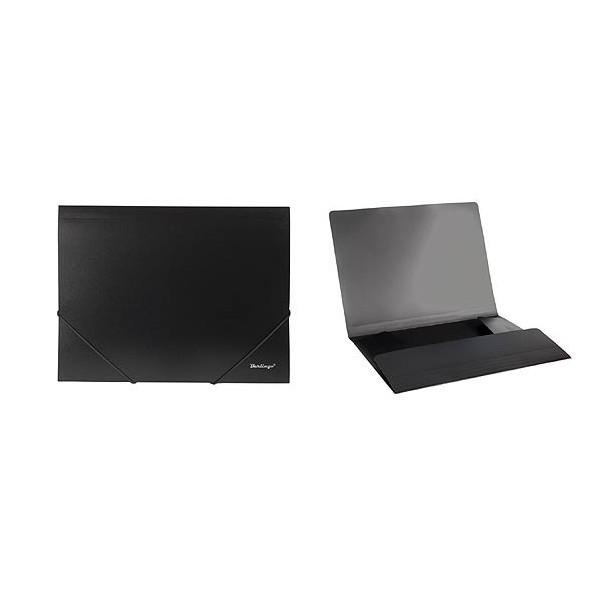 Папка пластиковая на резинке Berlingo формат А4 черная