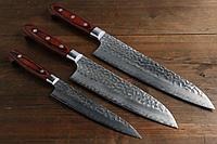 Sakai Takayuki 33 слоя VG10 набор кухонных ножей (шеф, сантоку, универсальный)
