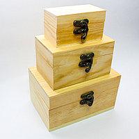 """Заготовка для декора """"Шкатулка-чемодан"""", деревянная, 3в1"""