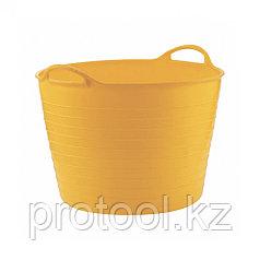 Ведро гибкое сверхпрочное 40л, желтое // СИБРТЕХ