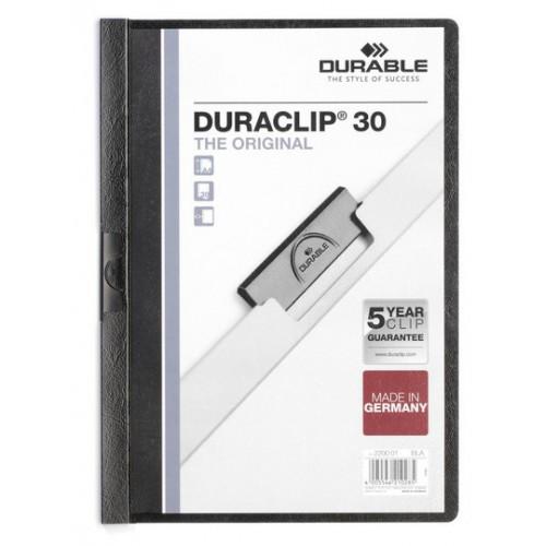 """Папка с боковым клипом Durable """"DURACLIP® 30"""" А4 30 листов"""