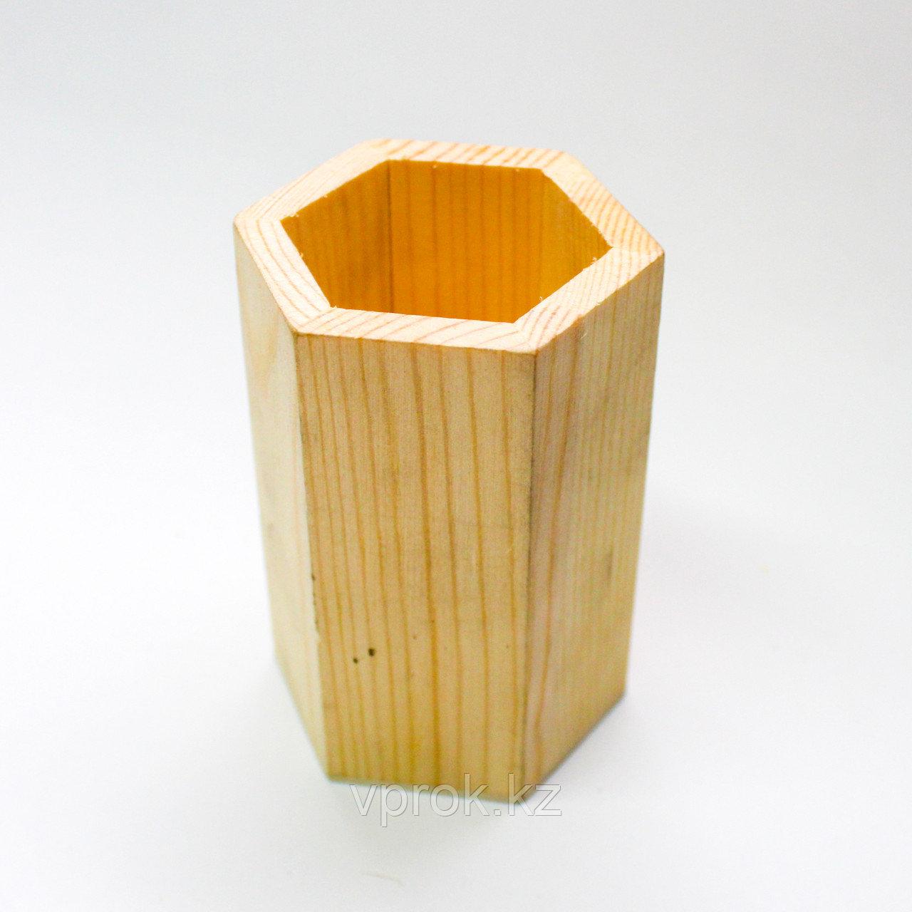 """Заготовка для декора """"Органайзер для карандашей"""", деревянная - фото 1"""
