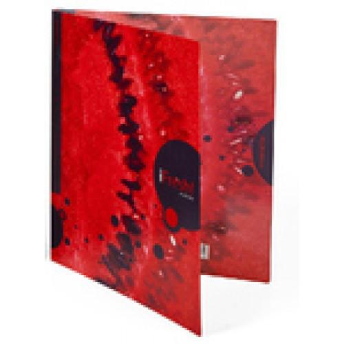 Папка пластиковая HATBER-HD А4ф с боковым зажимом