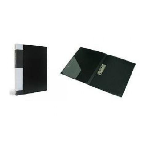 Папка пластиковая Berlingo с металлическим зажимом черная
