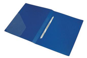 Папка пластиковая Berlingo с металлическим зажимом синяя