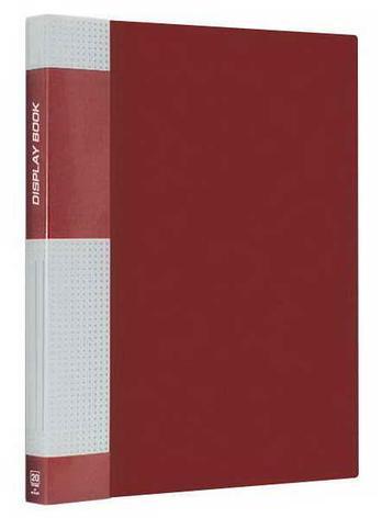 Папка пластиковая Berlingo с металлическим зажимом красная, фото 2