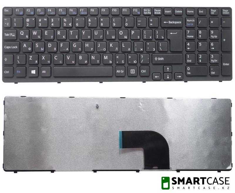 Клавиатура для ноутбука Sony SVE15 (черная, RU)