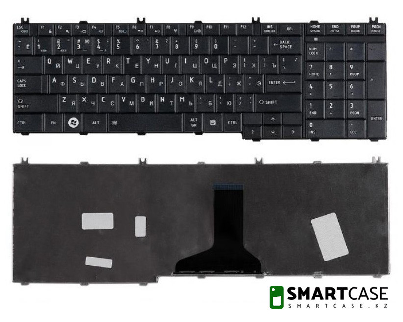 Клавиатура для ноутбука Toshiba Satellite L650 (черная, RU)