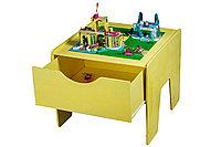 Lego-стол с выдвижным ящиком + полотно! (ЦВЕТ НА ВАШ ВЫБОР)