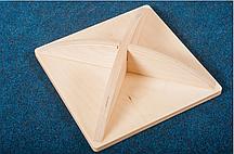 Балансировочный диск (квадратный) - лак/белый