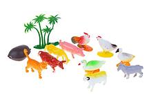 """Набор животных """"Ферма малая"""", 10 предметов с аксессуарами"""