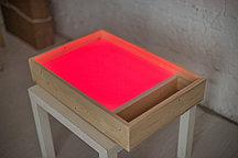 ЦВЕТНОЙ планшет для рисования песком с отсеком МДФ (256 цветов + пульт + 2 кг песка)