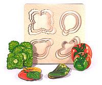 """Больше-меньше """"Овощи"""" развивающая доска Сегена"""