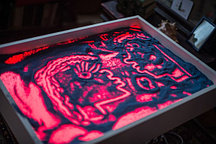 Планшет для песочной анимации 50*70 см  (256цветов+пульт+песок) МДФ