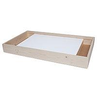 Планшет для рисования песком 50*70 с двумя отсеками (54*88 см) (цветная LED подсветка + пульт + 4 кг песка)