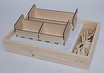 Дополнительный отсек для песка и инструментов