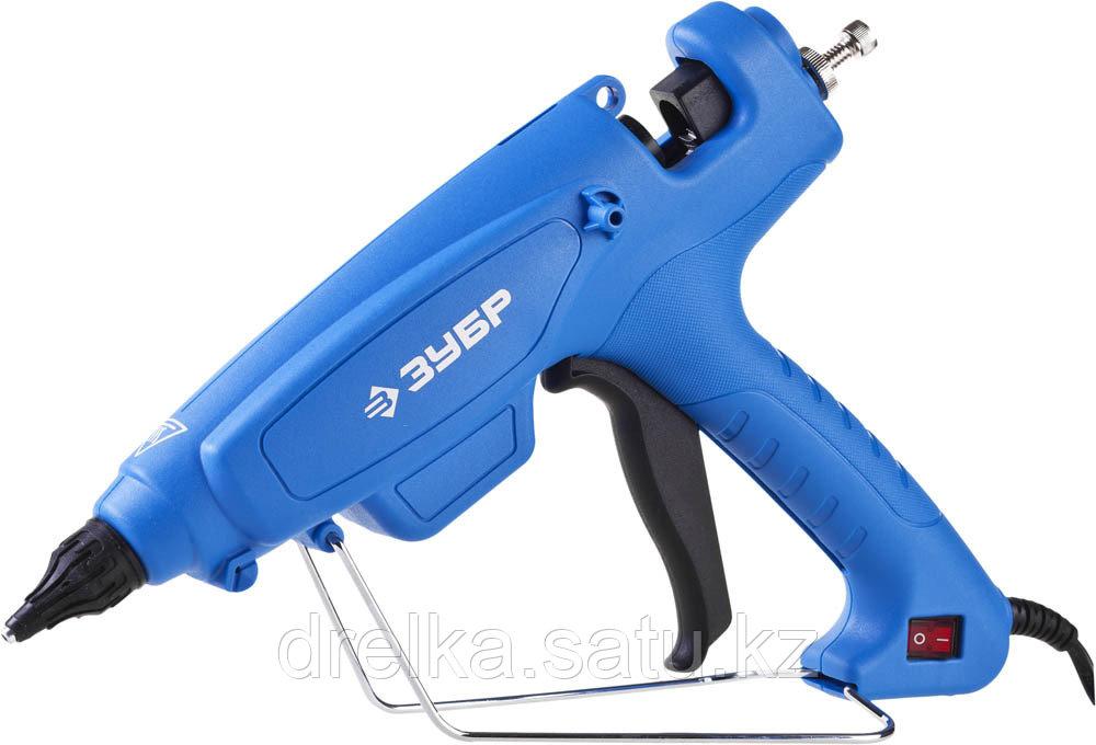 Клеевой пистолет ЗУБР 06851-80-12_z02, термоклеящий, электрический, эргономичная рукоятка
