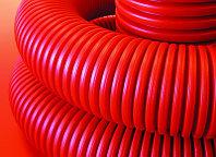 Труба гибкая двустенная для кабельной канализации д.110мм, цвет черный, в бухте 50м., с протяжкой