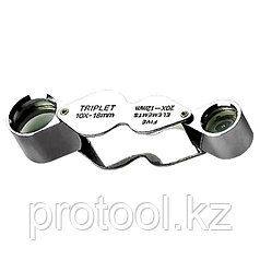 Лупа складная 10-ти и 20-кратная, D 18 мм, D 12 мм// SPARTA