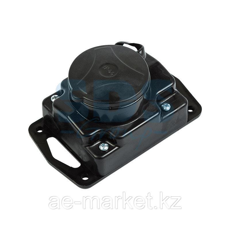 Розетка штепсельная переносная с заземляющим контактом влагозащищенная IP44 Rexant