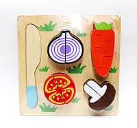 """Кубики-конструктор для малышей """"Овощи"""", 18*18 см"""