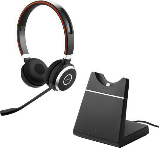 Bluetooth гарнитура с зарядным устройством Jabra Evolve 65 Stereo (SfB)