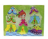 "Пазл-контуры для малышей ""Принцесска зеленая"", 30*22 см"