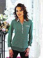 Блузка поло зеленая