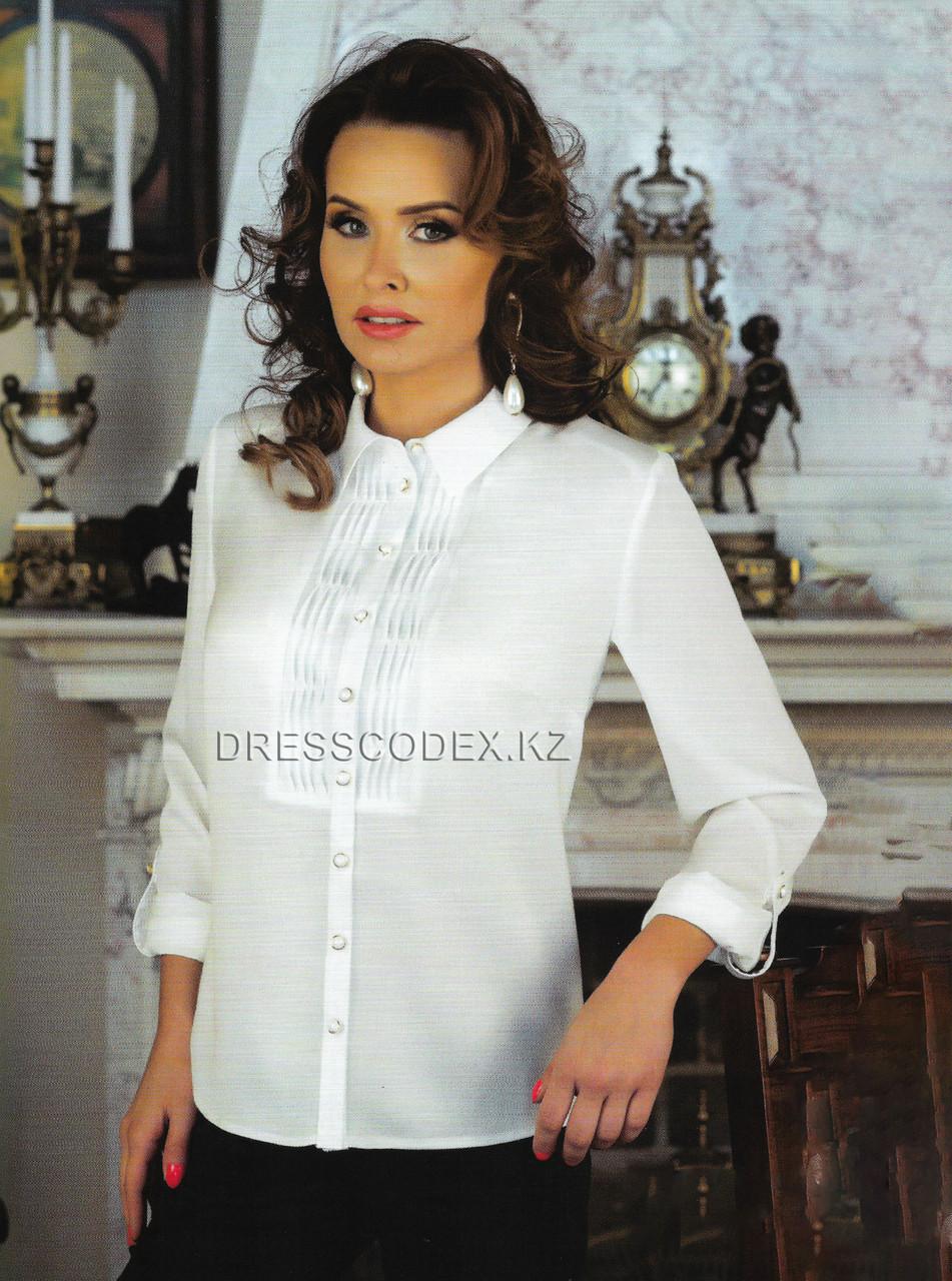 Блузка белая шелковая