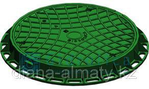 Канализационный люк пластиковый (зелёный) 750*750 Whatsup 87075705151