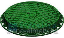 Канализационный люк пластиковый (зелёный) 800*800 Whatsup +77075705151