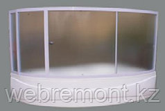 Шторка Catania 160x100x140 хром/бел