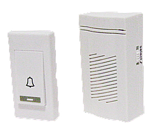 Звонок дверной беспроводной, 2*1.5V/AAА (3 мелодии) белый, ЕВ-29В ELS