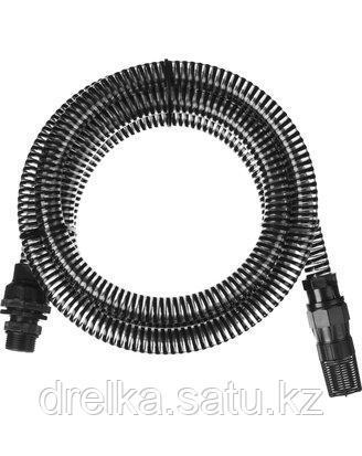 Шланг всасывающий армированный GRINDA 429007-1-4, со спиралью ПВХ, с фильтром и обратным клапаном, 1, 3,5м