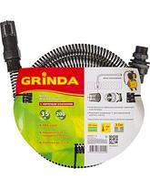 Шланг всасывающий армированный GRINDA 429007-1-4, со спиралью ПВХ, с фильтром и обратным клапаном, 1, 3,5м , фото 3