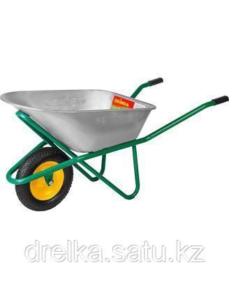 Тачка садовая строительная GRINDA 422392_z01, 90 л, грузоподъемность 200 кг