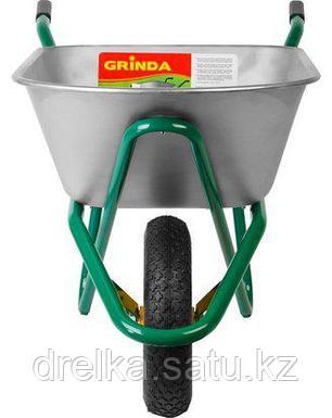 Тачка садовая строительная GRINDA 422392_z01, 90 л, грузоподъемность 200 кг , фото 2