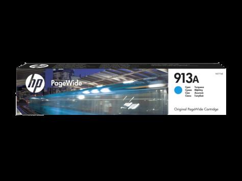 HP F6T77AE , Оригинальный картридж PageWide 377dw/477dw/352dw/452dw, Голубой , HP 913A