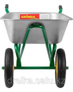 Тачка садовая строительная двухколесная GRINDA 422394_z01, 110 л, грузоподъемность 220 кг , фото 2